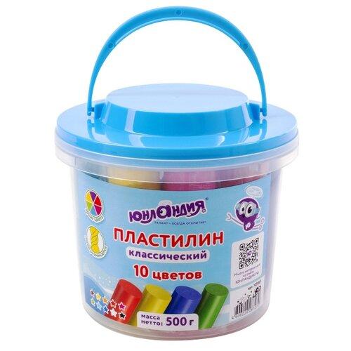 Купить Набор для лепки Юнландия Пластилин 10 цветов 500g 105861, Пластилин и масса для лепки