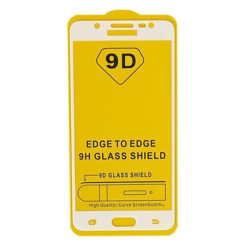 Защитное стекло LuazON 9D для Samsung Galaxy J5 2016 прозрачный/белый