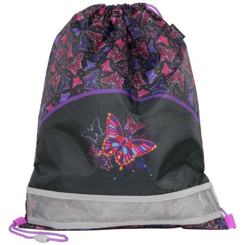 MagTaller Мешок для обуви Rainbow Butterfly (31916-02) черный/фиолетовый недорого