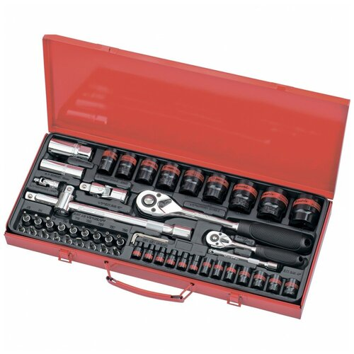 Фото - Набор автомобильных инструментов matrix 13585, 53 предм. набор автомобильных инструментов союз 1048 10 s58c 58 предм синий