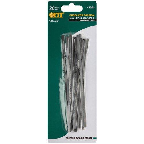Набор пилок для ручного лобзика FIT 41053 20 шт. набор пилок для лобзика рос