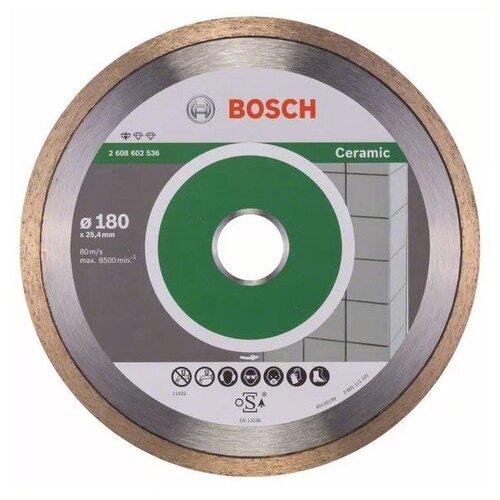 Фото - Диск алмазный отрезной BOSCH Standard for Ceramic 2608602536, 180 мм 1 шт. диск алмазный отрезной bosch standard for ceramic 2608602201 115 мм 1 шт