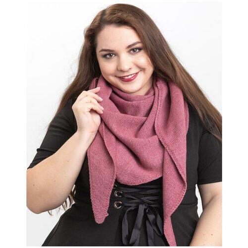 Женский теплый шарф-платок из шерсти, ТМ Reflexmaniya, RN168-Амарантовый.