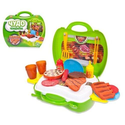 Купить Игровой набор ABtoys Чудо-чемоданчик, Гриль, 23 предмета (PT-00459), Детские кухни и бытовая техника