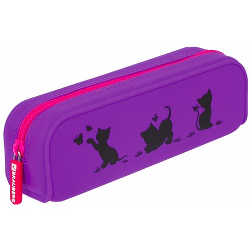 Фото - BRAUBERG Пенал-косметичка Kittens (229028) фиолетовый пенал косметичка brauberg тайм