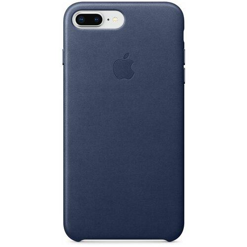 Чехол-накладка Apple кожаный для iPhone 8 Plus / 7 Plus Midnight blue