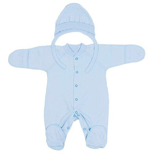 Купить Комплект одежды Клякса размер 62, голубой, Комплекты