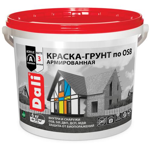 Краска акриловая DALI Краска-грунт по OSB матовая белый 6 кг недорого