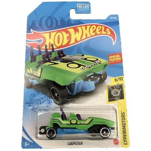 Hot Wheels Базовая машинка Loopster, зеленая mattel базовая машинка hot wheels tesla model 3