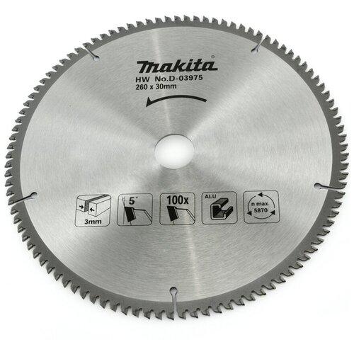 Пильный диск Makita Standart D-03975 260х30 мм диск пильный makita d 45892 standart 165 ммx20 мм 40зуб 173215