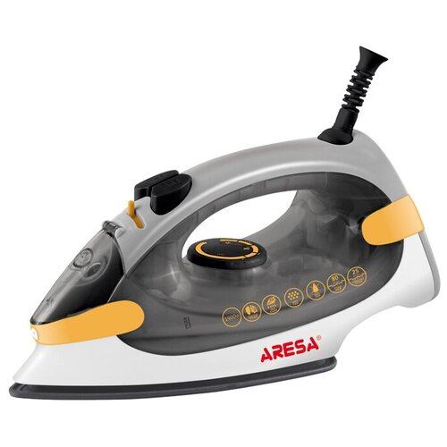 Утюг ARESA AR-3115 серый/оранжевый/белый утюг aresa ar 3115 серый оранжевый белый