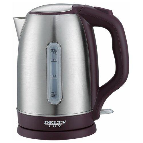 Чайник DELTA LUX DL-1335, фиолетовый чайник delta lux dl 1204b 1 7l black
