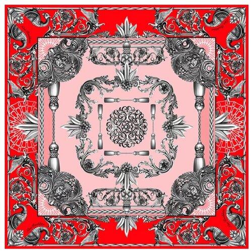 Платок Русские в моде by Nina Ruchkina Русское чугунное литье красный/розовый