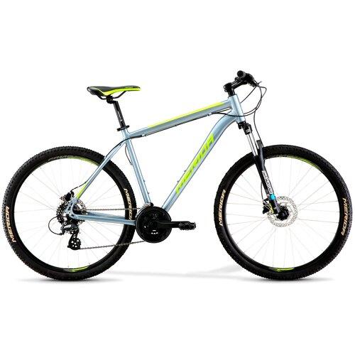 Горный (MTB) велосипед Merida Big.Seven 10 (2021) dark silver/green L (требует финальной сборки) горный mtb велосипед kellys desire 90 2019 grey green m требует финальной сборки