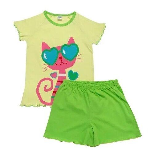 Купить Пижама Клякса размер 116, салатовый, Домашняя одежда