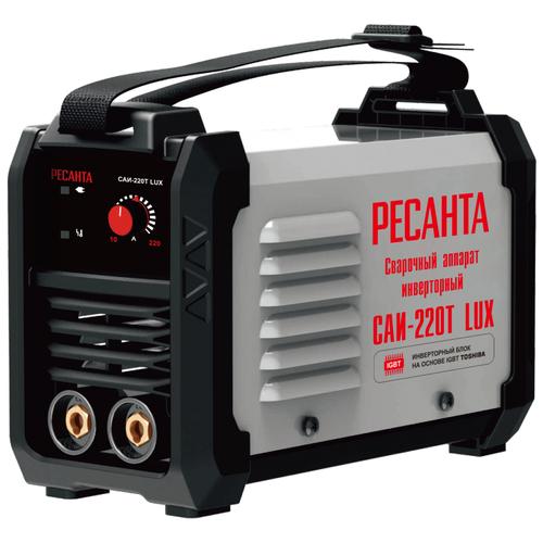 Сварочный аппарат инверторного типа РЕСАНТА САИ-220Т LUX MMA сварочный аппарат инверторного типа ресанта саи 190 краги mma