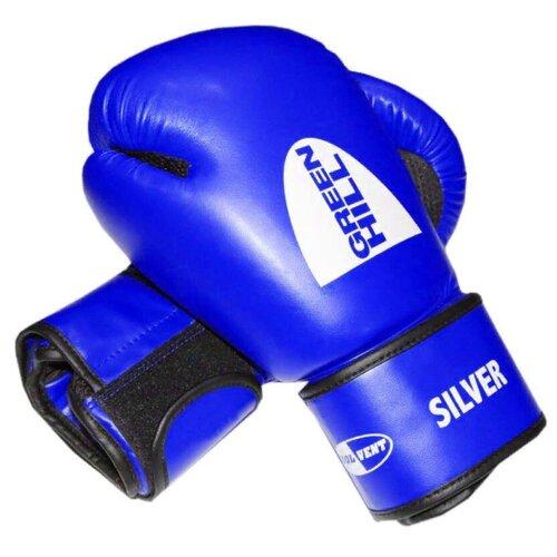 Боксерские перчатки Green hill Silver (BGS-2039) синий 10 oz боксерские перчатки green hill gym bgg 2018 синий 10 oz