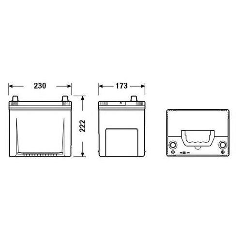 Аккумуляторная батарея Tudor _TA654 для Daewoo LUBLIN II II, LUBLIN II C II; Honda Accord VI,VIII, Civic IX c j tudor kredziarz