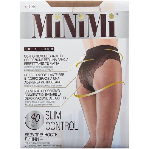 Фото - Колготки MiNiMi Slim Control, 40 den, размер 3-M, daino (бежевый) колготки minimi slim control 40 den размер 4 l daino бежевый