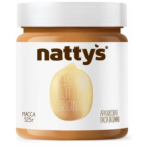 Паста Арахисовая Original Nattys, 525 г nattys арахисовая паста chili с перцем чили и морской солью 325 г