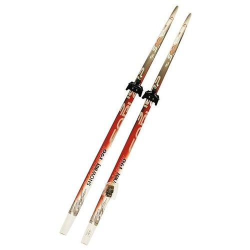 Лыжный комплект (лыжи + крепления) 75 мм 190 СТЕП Sable snowway red