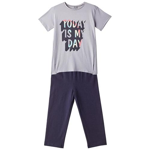 Фото - Комплект одежды Elaria размер 158, серый худи elaria размер 140 хаки