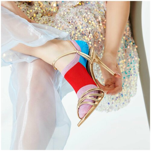 Носки для девушек Hysteria Isa Invisible Sneaker Sock - Pink/Red/Blue 36-38
