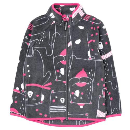 Олимпийка crockid размер 98, темно-серый/мишки футболка crockid размер 98 мятная конфета