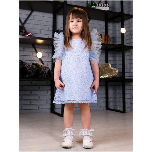 Фото - Платье Khmeleva размер 116, голубой блузка mek размер 116 голубой