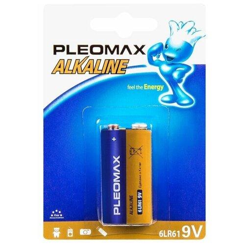 Батарейка Pleomax Alkaline 6LR61 (крона), 1 шт.