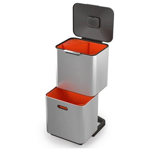 Контейнер для мусора с двумя баками totem max 60 л нержавеющая сталь контейнер для мусора с прессом titan 20 л серый joseph joseph 30039