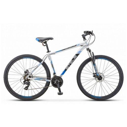 велосипед stels navigator 900 d 29 f010 21 серебристый синий Горный (MTB) велосипед STELS Navigator 900 MD 29 F010 (2019) 17,5 серебристый/синий (требует финальной сборки)