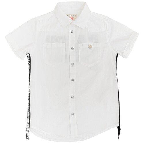 Рубашка Button Blue размер 104, белый