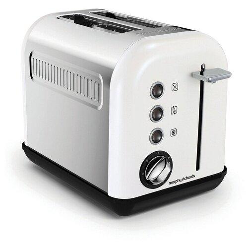 Тостер Morphy Richards 222012, серебристый/белый тостер morphy richards 222017 белый розовое золото