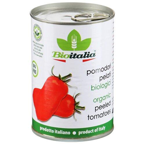 томаты очищенные резаные в томатном соке bioitalia 400 г Томаты очищенные целые в томатном соке Bioitalia, 400 г
