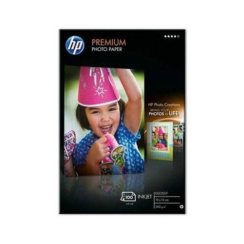 Фото - Q8032A HP Premium Photo Paper. Глянцевая фотобумага повыш. кач-ва с отрывным ярлычком, 10х15, 240 г. hp photo realistic poster paper cg419a