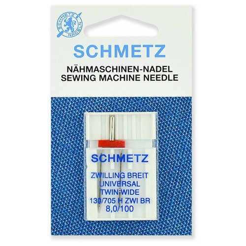 Игла/иглы Schmetz 130/705 H ZWI BR 8/100 двойная универсальная серебристый игла иглы schmetz 130 705 h zwi 4 90 двойные универсальные серебристый