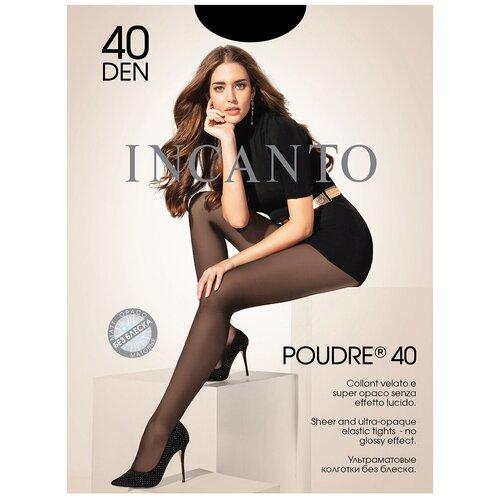 Фото - Колготки Incanto Poudre, 40 den, размер 2-S, nero (черный) колготки incanto poudre 40 den размер 2 s daino бежевый