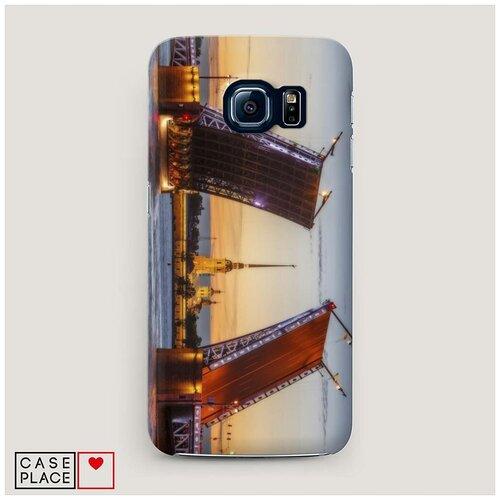 Чехол Пластиковый Samsung Galaxy S7 Разведенные мосты в СПб 1