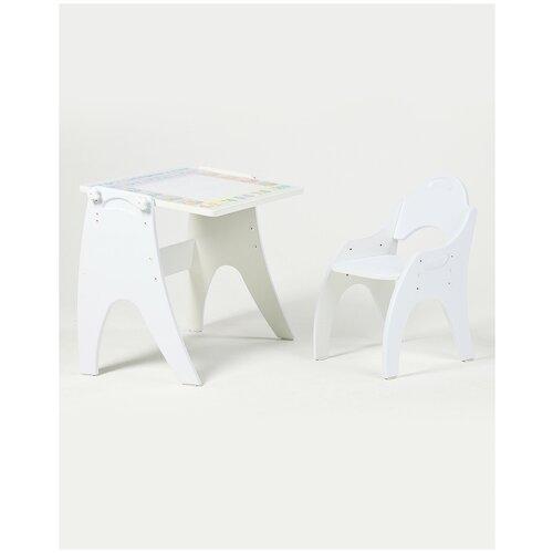 Набор детской мебели Тех Кидс Трансформер Части света Белый глянцевый