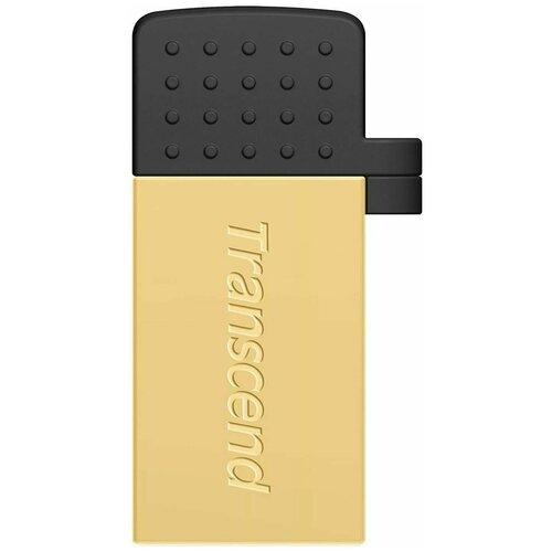 Флеш-накопитель USB 64GB Transcend JetFlash 380G (USB+microUSB) for Android smartphones