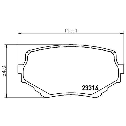 Дисковые тормозные колодки передние NISSHINBO NP9002 для Suzuki Grand Vitara, Suzuki Vitara (4 шт.)
