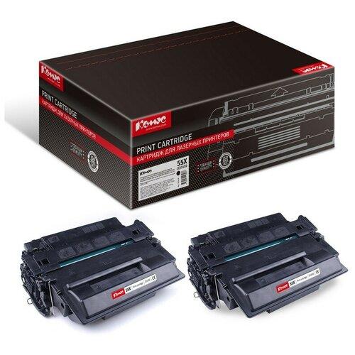 Картридж лазерный Комус CE255XD чер. пов.емк. для HPLJM525 (2шт/уп.)