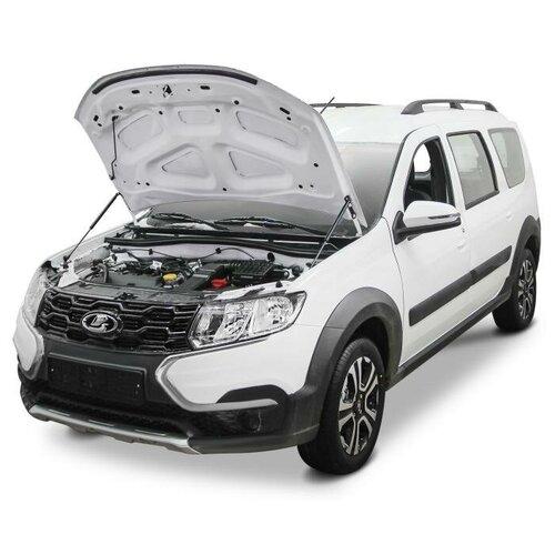 Упоры капота АвтоУпор (2 шт.) LADA Largus с 2021 года выпуска газовые упоры капота автоупор для jeep renegade 2014 2018 2 шт ujeeren011