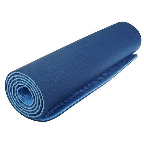 Коврик для йоги Sangh 183*61*0,8 см, двухцветный, синий