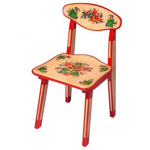 Купить Детский стульчик Хохлома с художественной росписью Ягода/цветок рост 2, Хохломская роспись, Стулья и табуреты