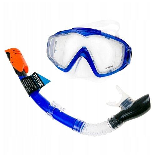 Фото - 55962, Intex, Комплект для плавания Silicone Aqua Pro набор для плавания intex aqua pro серый