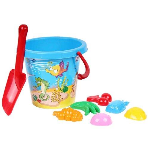 Набор для песочницы игрушки для песочницы технок (лопатка детская, формочки для песка, ведерко для песочницы)