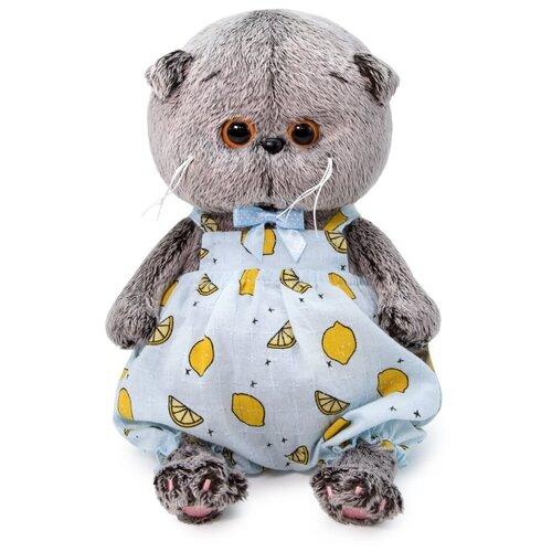 Мягкая игрушка Basik&Ko Басик Baby в песочнике с лимонами, 20 см