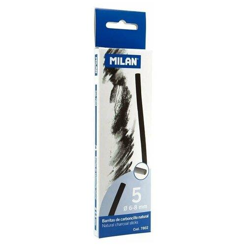 Купить Уголь для рисования Milan натуральный 5 штук, диаметр 6-8 мм, Пастель и мелки